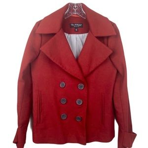 Miss Selfridge Peacoat Double Breasted Red Size 0